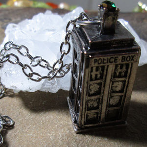 Jewelry - Tardis Silver Police box necklace 711